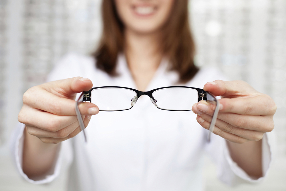 Optometrist with Eye Glasses
